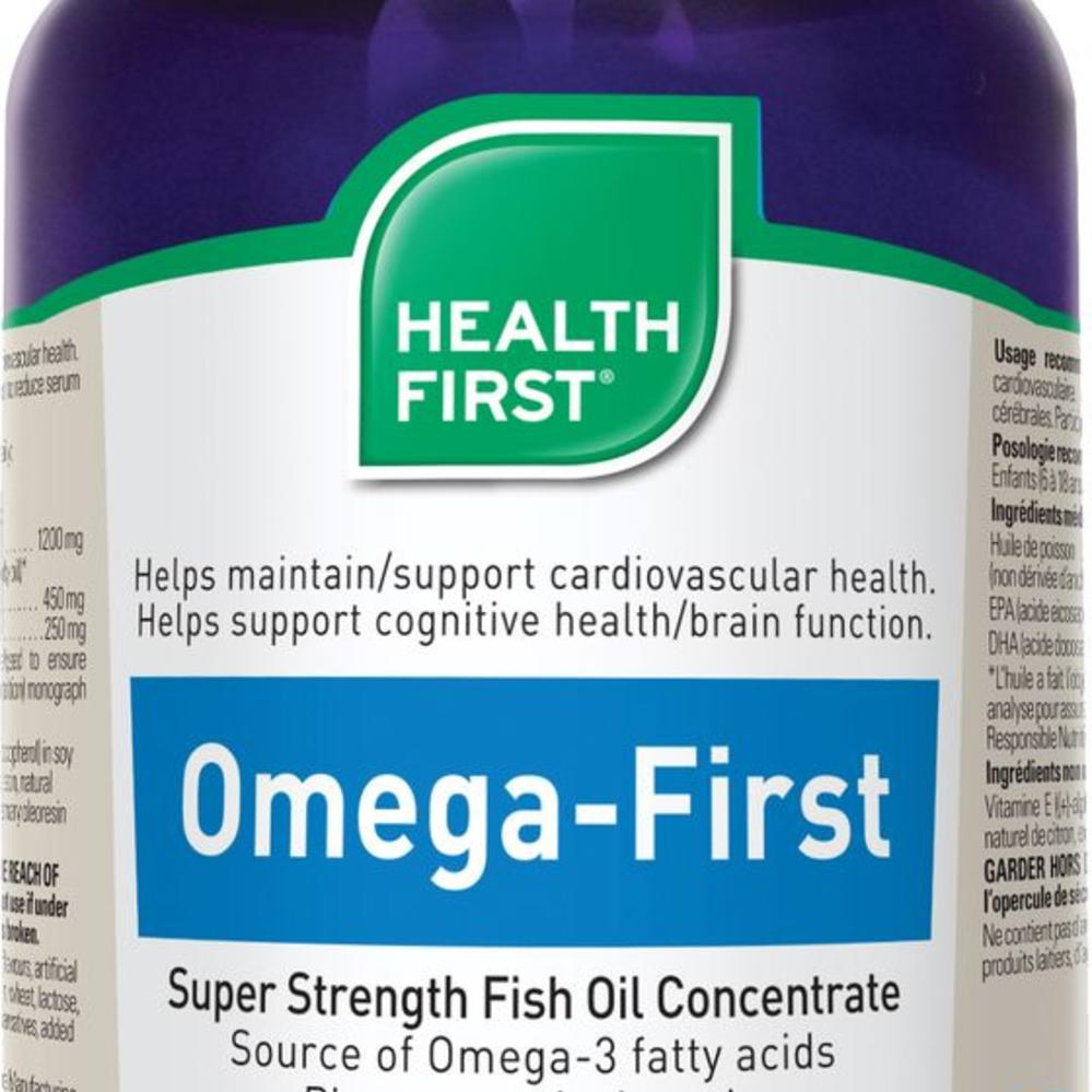Health First Omega Super Strength Fish Oil 60 Caps Vitamin Udos 369