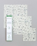 Abeego Inc Abeego Reuseable Beeswax Food Wraps - Variety Pack 1 sm, 1 med, 1 lrg