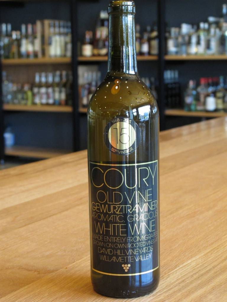 Coury 2015 Coury Old Vine Gewurztraminer David Hill Vineyard 750ml