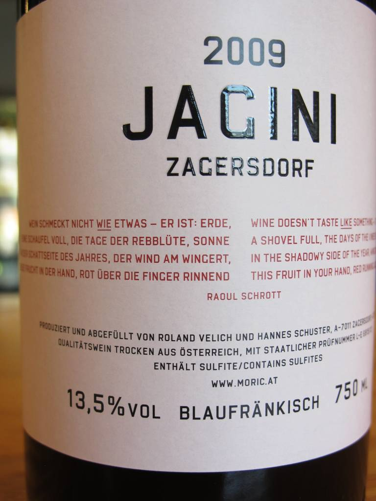 Jagini 2009 Jagini Zagersdorf Blaufränkisch 750ml