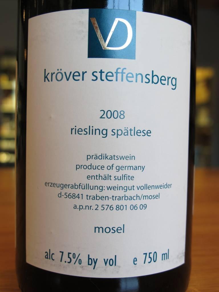 Weingut Vollenweider 2008 Weingut Vollenweider Kröver Steffensberg Riesling Spätlese