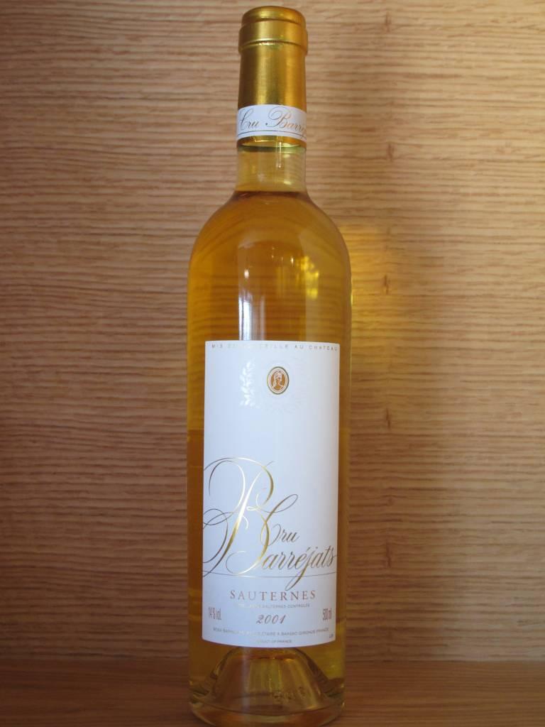 Cru Barréjats 2001 Cru Barréjats Sauternes 500mL