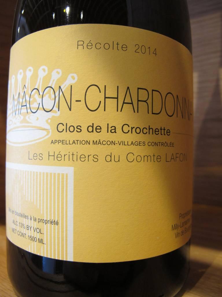 Domaine Heritiers du Comte Lafon/Milly-Lamartine 2014 Domaine Heritiers du Comte Lafon Mâcon Milly-Lamartine Clos de la Crochette 1.5L