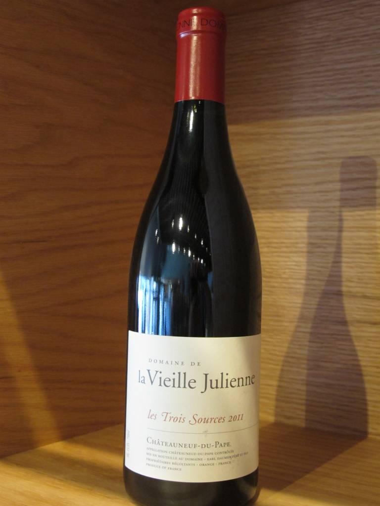 Domaine de la Vieille Julienne 2011 Domaine de la Vieille Julienne Châteauneuf-du-Pape Les Trois Sources 750ml