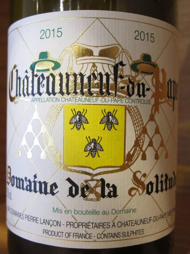 Domaine de la Solitude 2015 Domaine de la Solitude Châteauneuf-du-Pape Blanc 750ml
