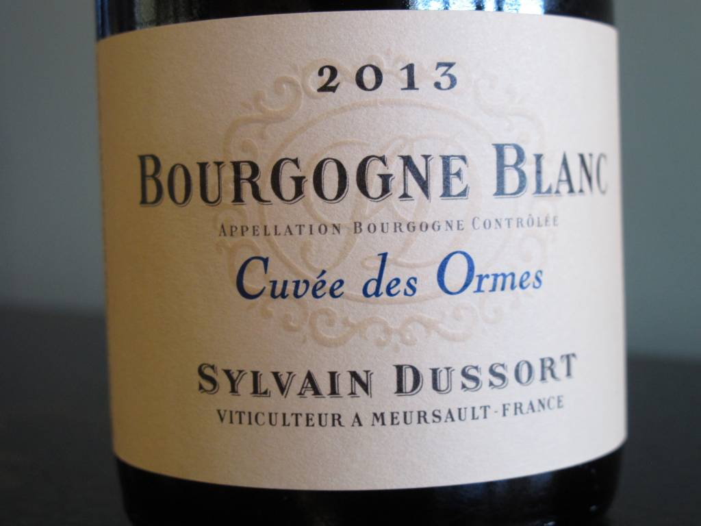 Sylvain Dussort 2013 Sylvain Dussort Bourgogne Blanc Cuvée des Ormes 750ml