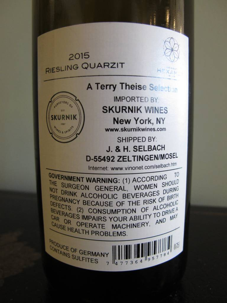 Hexamer 2015 Hexamer Riesling ''Quarzit'' 750ml