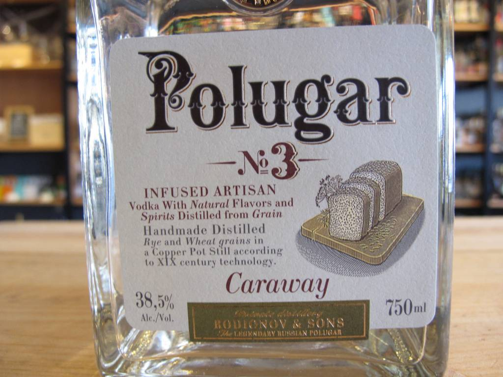Polugar Polugar Vodka No. 3 Caraway 750mL