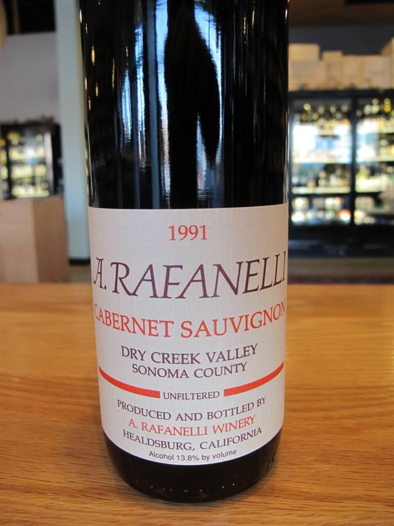 A. Rafanelli 1991 A. Rafanelli Dry Creek Valley Cabernet Sauvignon 750ml