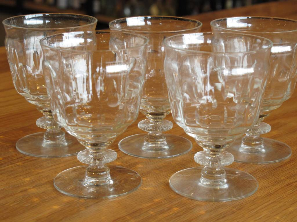 Antique Spirits Glasses Small Apertif Cut Crystal set of 5