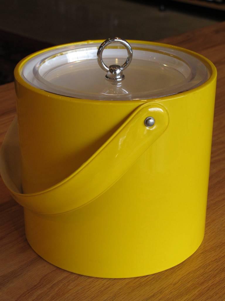 Georges Briard Vintage Georges Briard Small Yellow Vinyl Ice Bucket