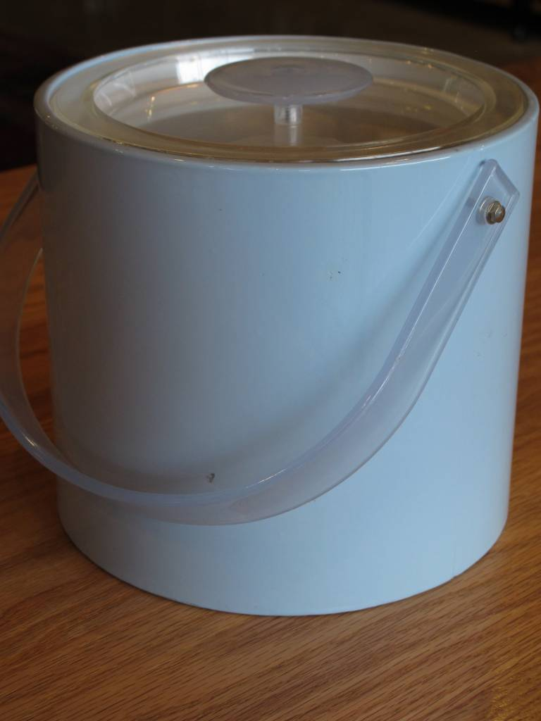 Georges Briard Vintage Georges Briard Baby Blue Ice Bucket with White Interior