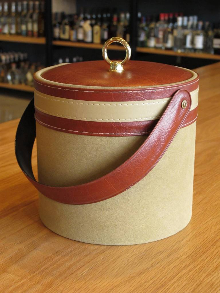Georges Briard Vintage Georges Briard Suede and Brown Vinyl Ice Bucket