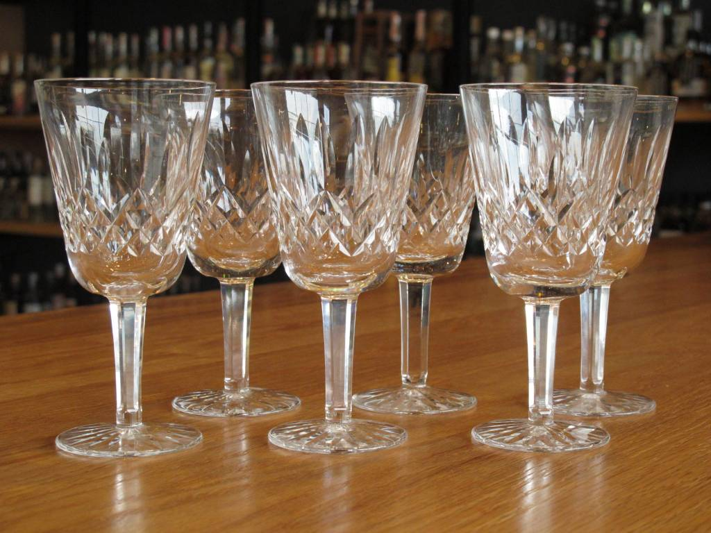 Antique Spirits Glasses Cut Crystal set of 6