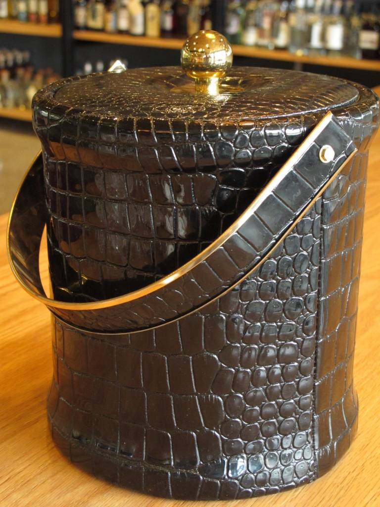 Georges Briard Vintage Georges Briard Black Ice Bucket Faux Crocodile
