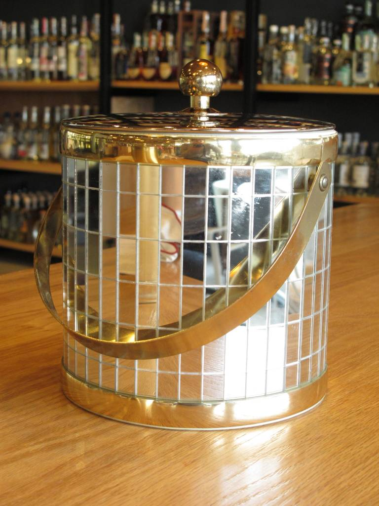 Vintage Mirrored Ice Bucket