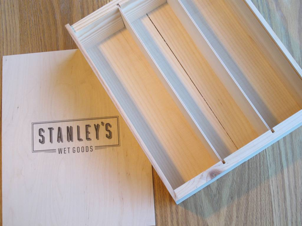 Poole & Sons Stanley's Wood Gift Box Three Bottle
