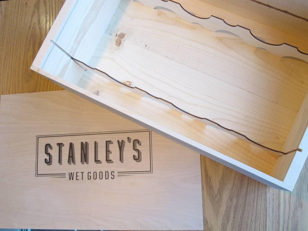 Poole & Sons Stanley's Wood Gift Box Twelve Bottle