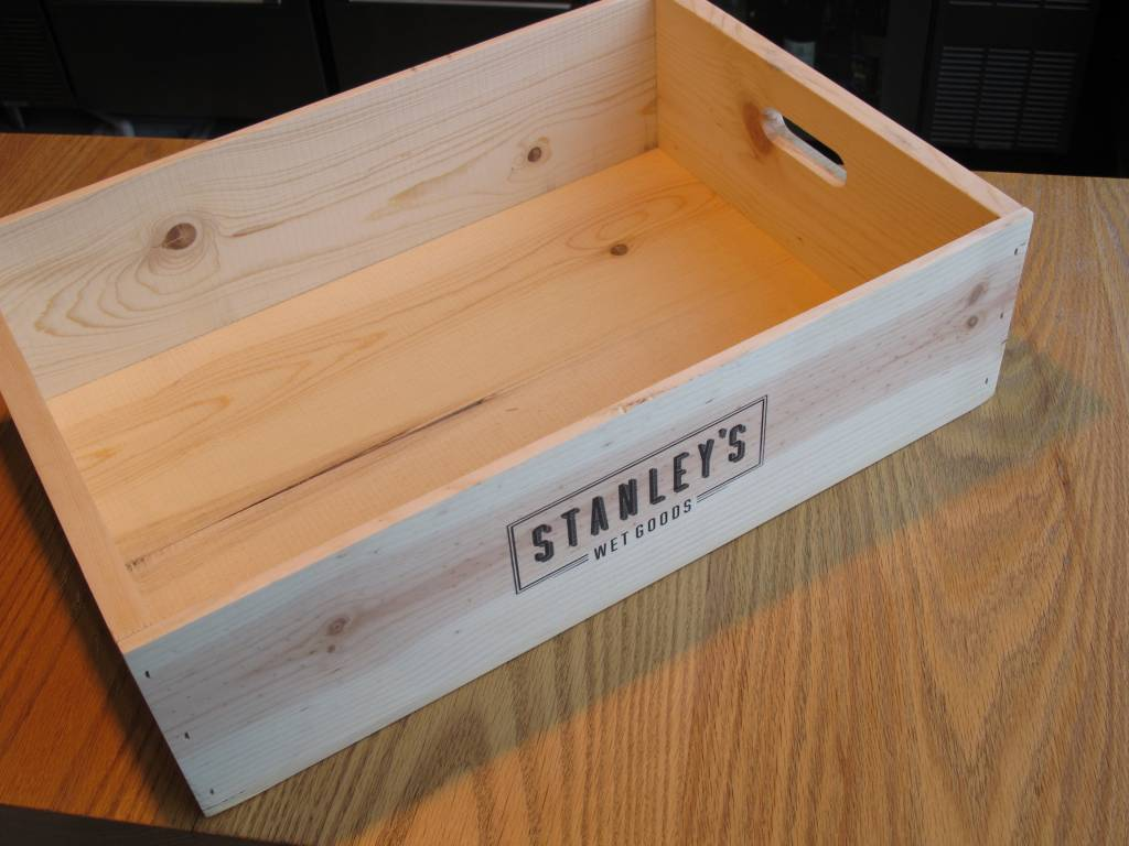 Poole & Sons Stanley's Wood Gift Box Lug Crate