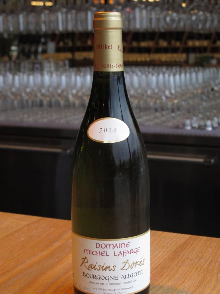Domaine Michel Lafarge 2014 Domaine Michel Lafarge Bourgogne Aligoté Raisins Dores 750ml