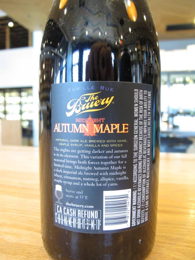The Bruery The Bruery Midnight Autumn Maple 750ml