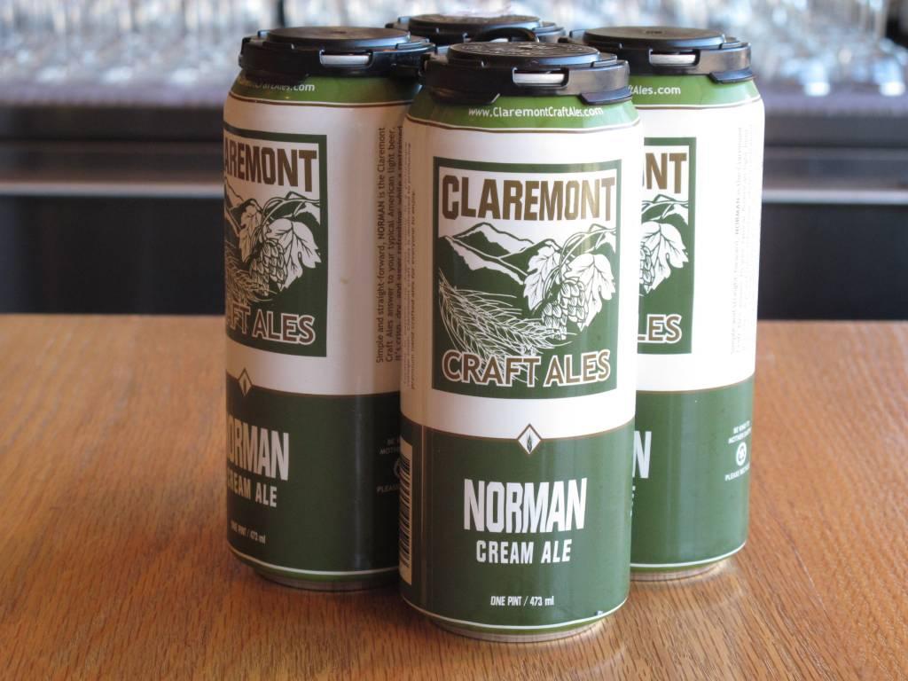 Claremont Craft Ales Claremont Norman Cream Ale 16oz 4 Pack