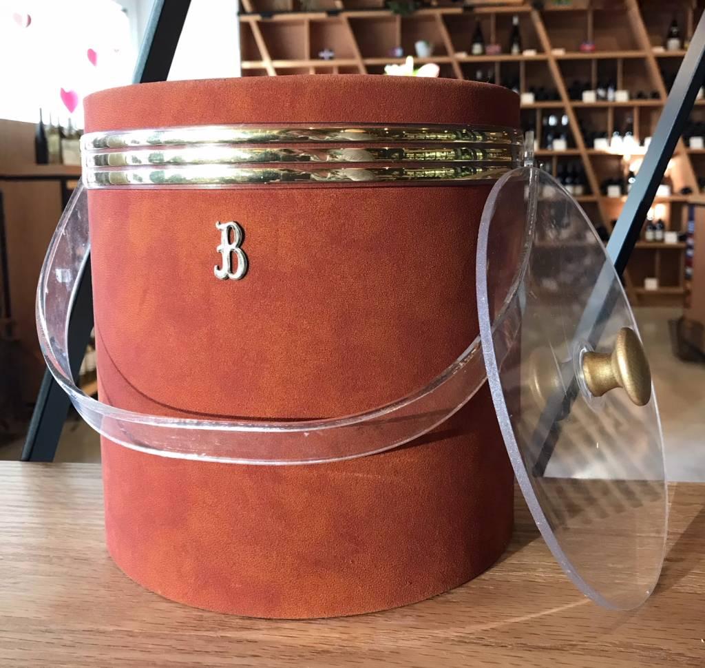 Georges Briard Vintage Georges Briard Rust Color Suede Feel Ice Bucket