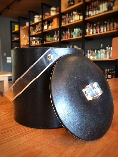 Georges Briard Vintage Georges Briard Black Lucide Leather Vinyl Ice Bucket