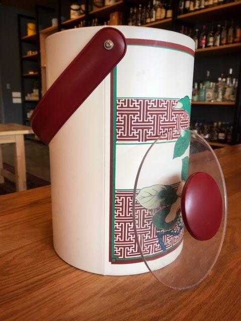 Georges Briard Vintage Georges Briard Lucite & Vinyl Oriental Design Ice Bucket