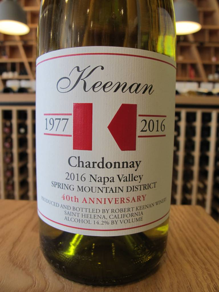 Keenan Winery 2016 Keenan Spring Mountain Chardonnay 750mL