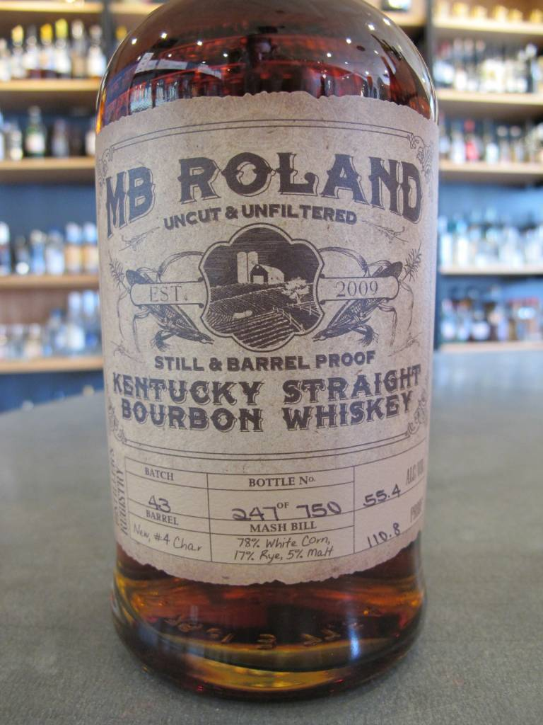 MB Roland MB Roland Kentucky Straight Bourbon Whiskey Barrel Proof 750mL
