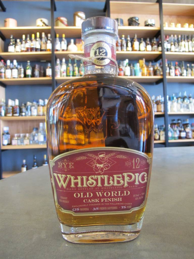 WhistlePig Distillery WhistlePig Straight Rye 12 Year Old World Cask Finish 86 Proof 750mL