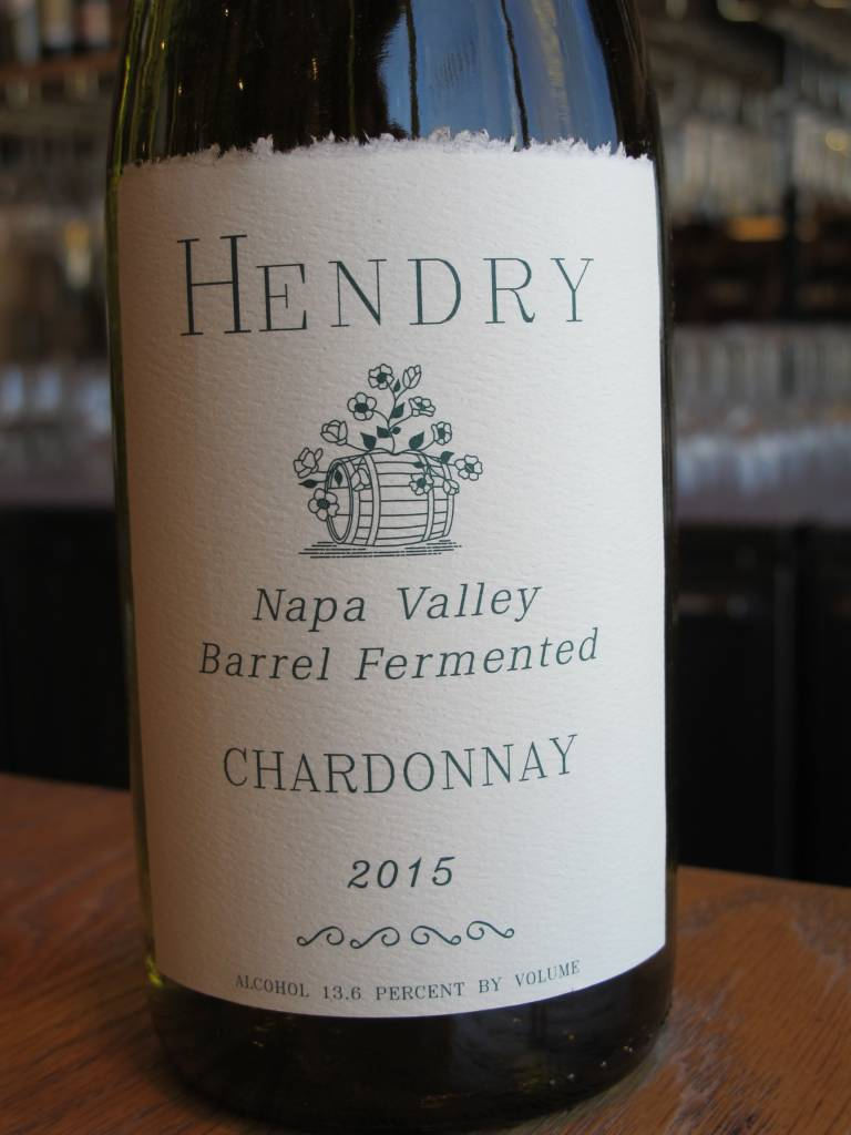 Hendry 2015 Hendry Chardonnay Barrel Fermented 750mL