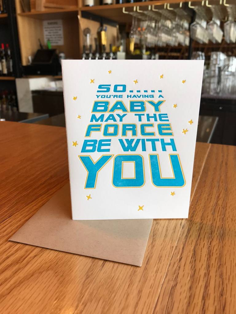 Force Be With You Elum Greeting Card