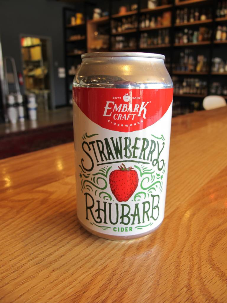 Embark Craft Ciderworks Embark Strawberry Rhubarb Cider 12oz