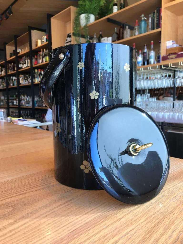 Georges Briard Vintage Georges Briard Black Gold Floral Ice Bucket