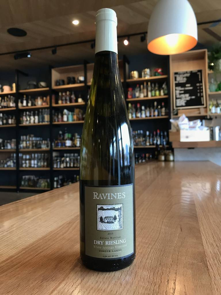 Ravines Wine Cellars 2015 Ravines Dry Riesling White Springs 750ml