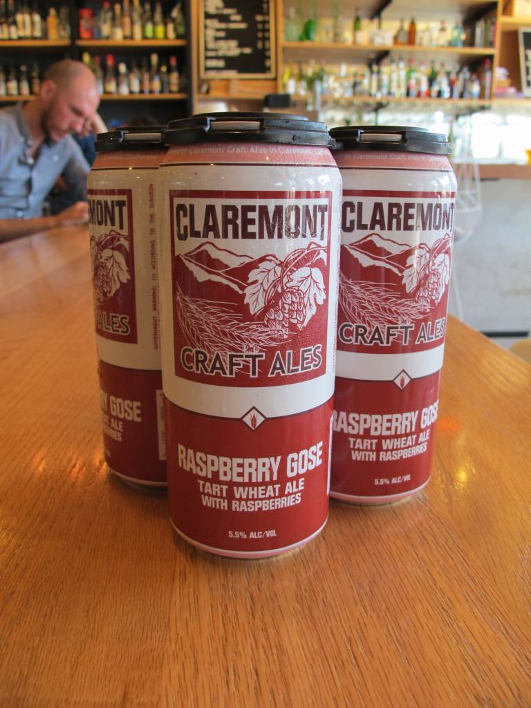Claremont Craft Ales Claremont Raspberry Gose 16oz 4 pack
