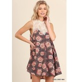 Umgee UMGEE Sleeveless A-Line Floral Print Dress