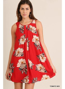 Umgee UMGEE Floral Print Dress
