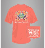 Southern Fried Cotton Southern Fried Cotton Southern Folk Crab T-Shirt