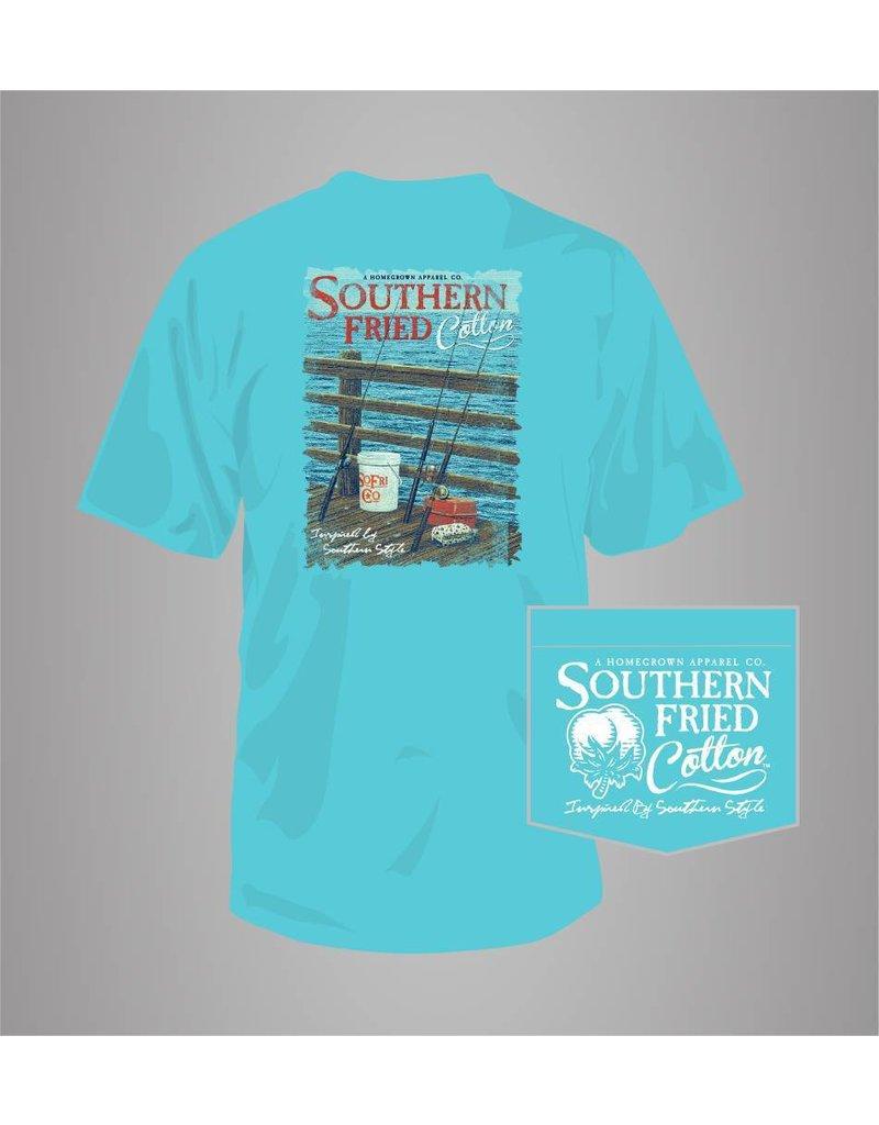 Southern Fried Cotton Southern Fried Cotton Pier Fishing T-Shirt