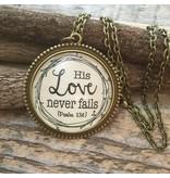 Never Lose Hope Designs His Love Never Fails Antique Bronze Necklace