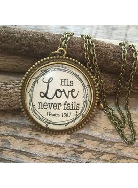 Never Lose Hope Designs His Love Never Fails Antique Bronze Necklace