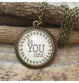 Never Lose Hope Designs Love Antique Silver Necklace