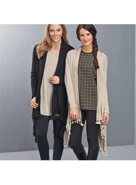 Mud Pie Tinsley Tassel Cardigan