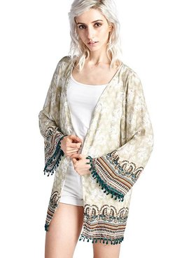 Mittoshop Elephant Border Print Kimono