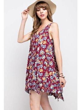 Mittoshop Mittoshop Floral Print V-Neck Flare Dress