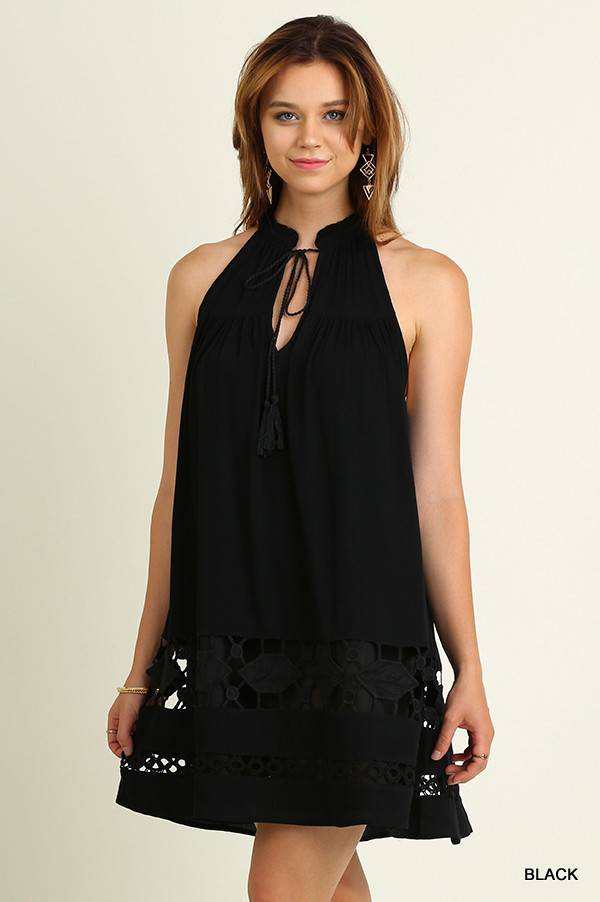 UMGEE Halter Dress with Tie Details