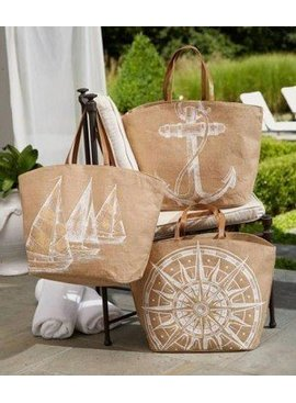 Mud Pie Mud Pie Aweigh We Go Jute Tote